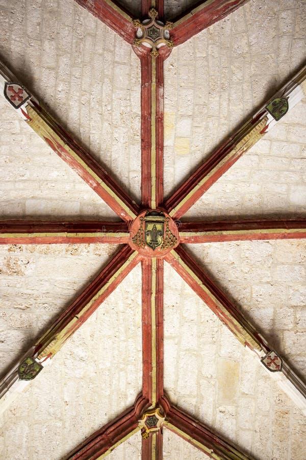 Igreja de San Juan de Ortega Monastery, Espanha, interior fotos de stock