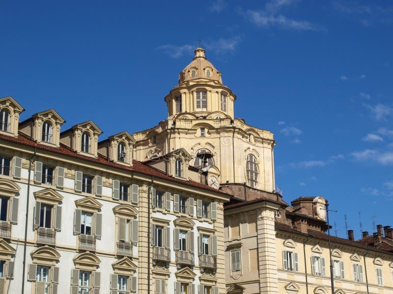 Igreja de San Lorenzo, Turin fotografia de stock royalty free