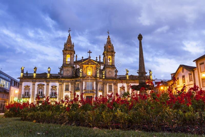 A igreja de San Marcos Igreja faz o hospital em Braga, Portugal imagens de stock royalty free