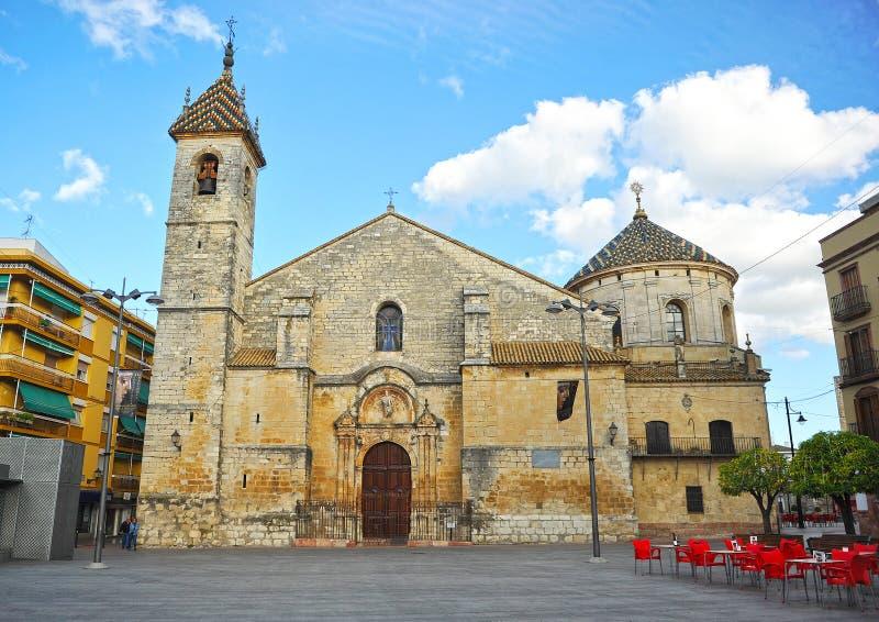 Igreja de San Mateo província em Lucena, Córdova, a Andaluzia, Espanha imagens de stock