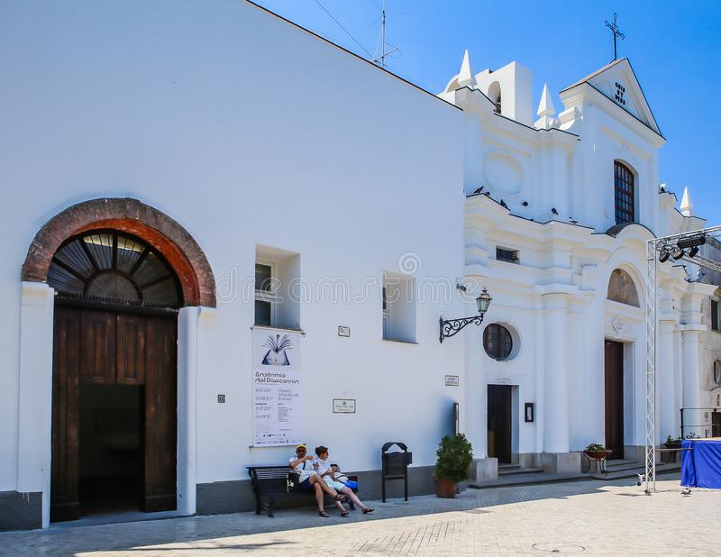 Igreja de San Michele Saint Michael, Anacapri, Capri, fotografia de stock royalty free