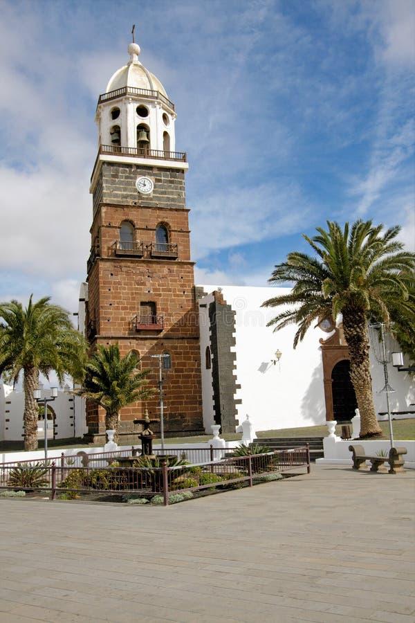 Igreja de San Miguel, Teguise, Lanzarote foto de stock royalty free