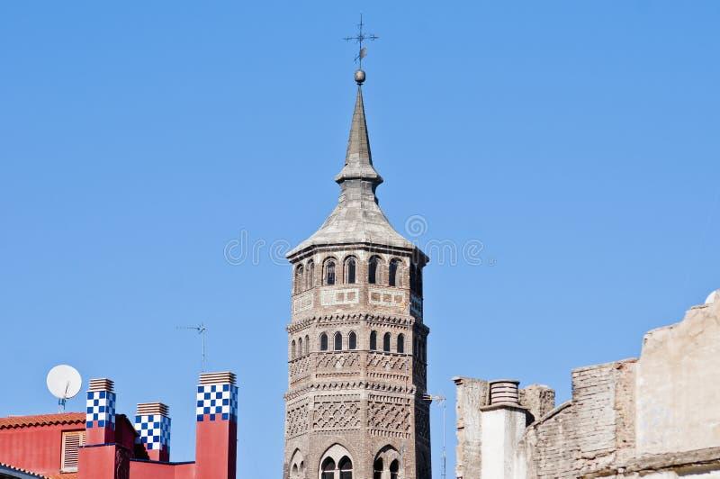 Igreja de San Pablo em Zaragoza, Spain imagem de stock