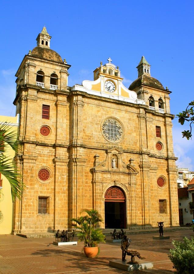 Igreja de San Pedro Claver, Cartagena, Colômbia foto de stock royalty free