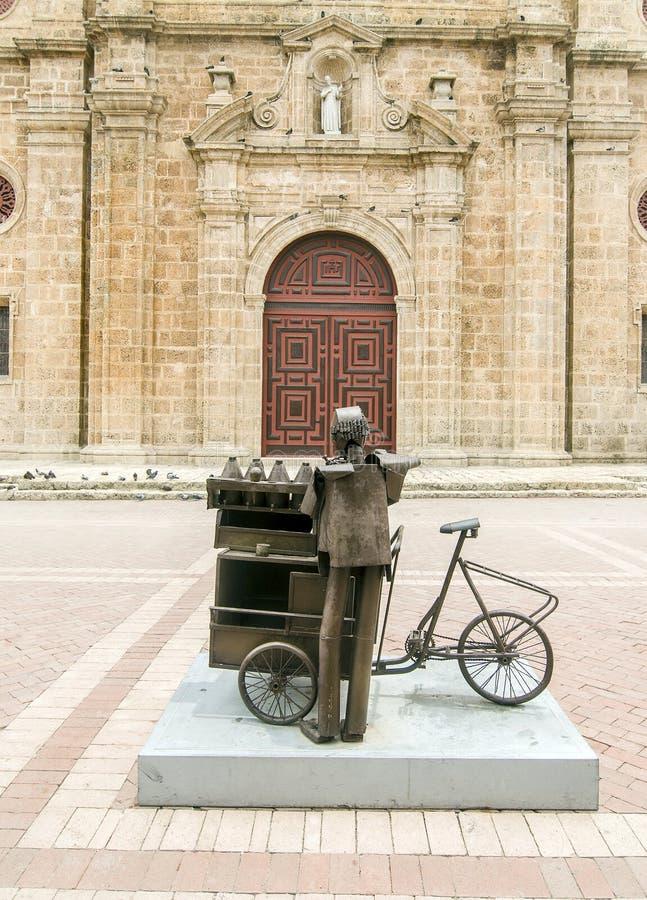 Igreja de San Pedro Claver, Colômbia imagens de stock