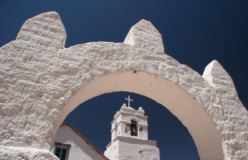 Igreja de San Pedro de Atacama fotografia de stock royalty free