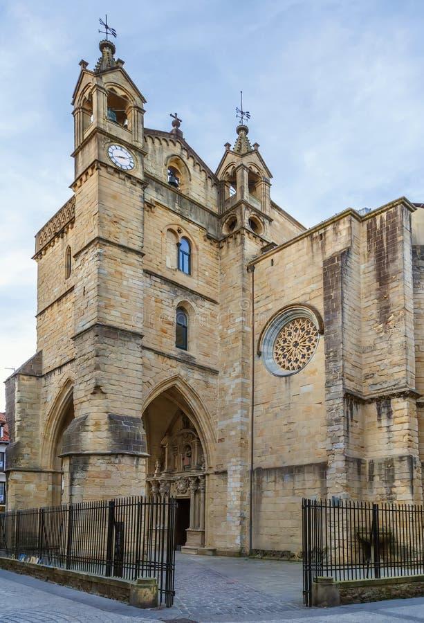 A igreja de San Vicente, f San Sebastian, Espanha fotos de stock royalty free