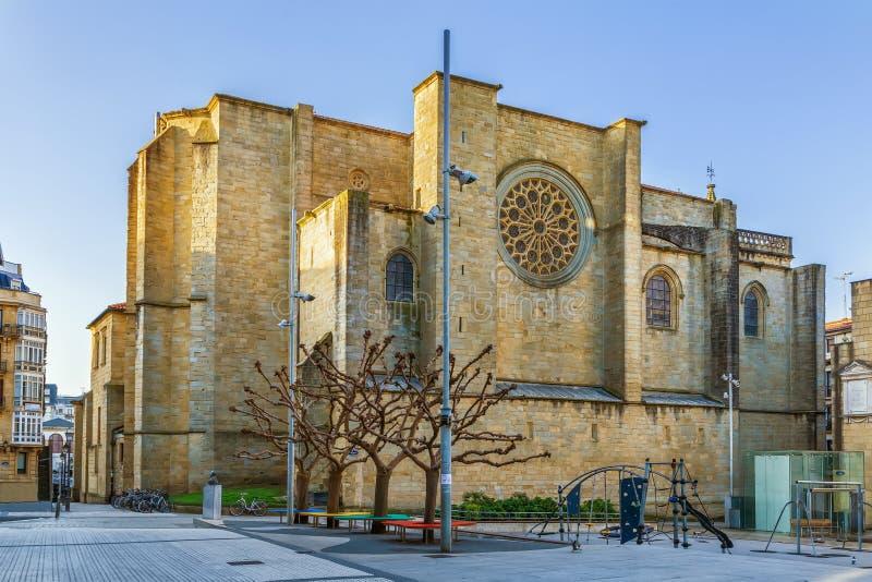 A igreja de San Vicente, San Sebastian fotos de stock royalty free