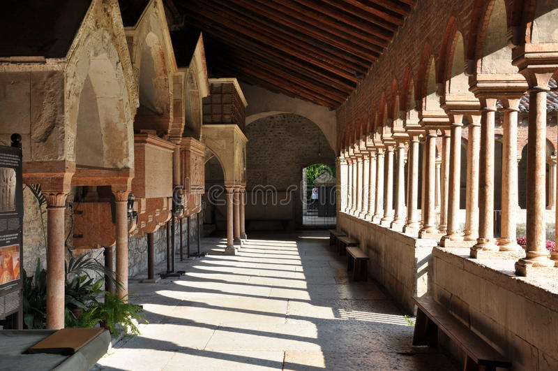 Igreja de San Zeno Verona fotos de stock