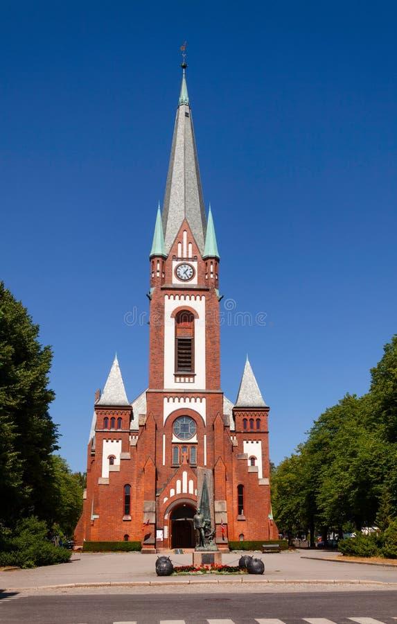 Igreja de Sandefjord e segunda guerra mundial Vestfold memorável Noruega fotos de stock royalty free
