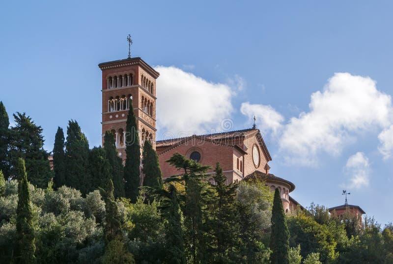 Igreja de Sant'Anselmo, Roma imagens de stock royalty free