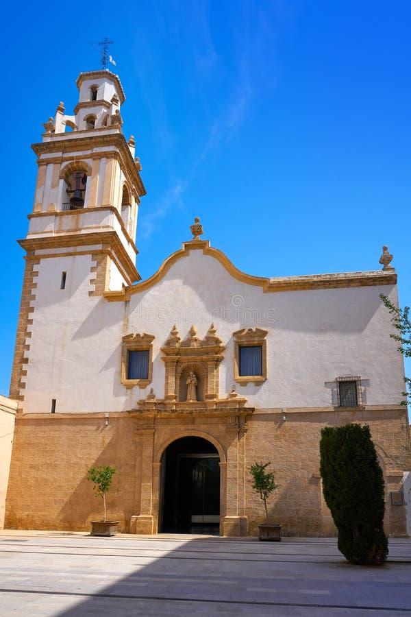 Igreja de Sant Antoni do quadrado de Denia Convent imagem de stock royalty free