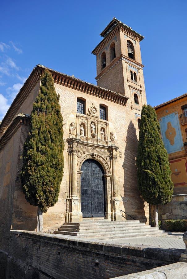 Igreja de Santa Ana em Granada, Andalucia, Espanha imagem de stock
