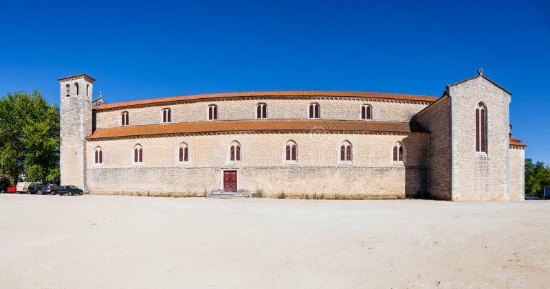 Igreja de Santa Clara Church del av den tidigare Santa Clara Nunnery i staden av Santarem arkivfoton
