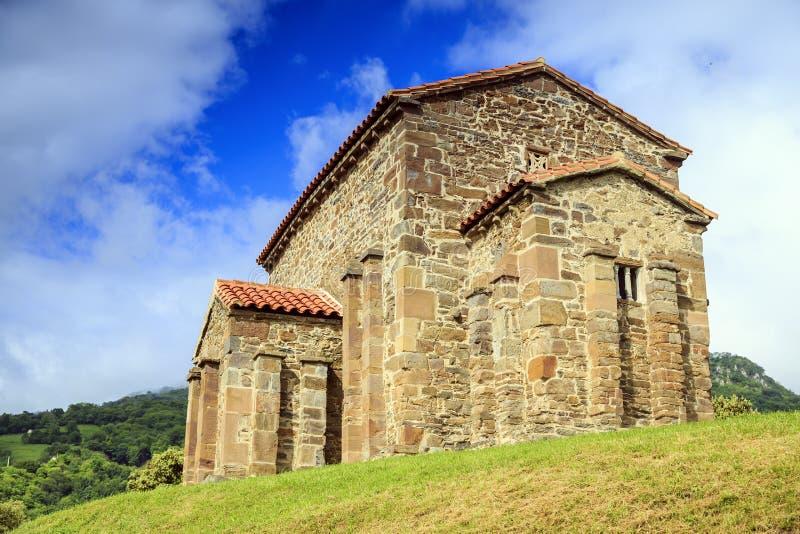 Igreja de Santa Cristina de Lena Oviedo imagens de stock