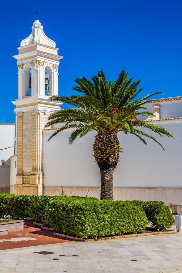 Igreja de Santa Croce - Vieste, Gargano, Apulia, Itália imagem de stock