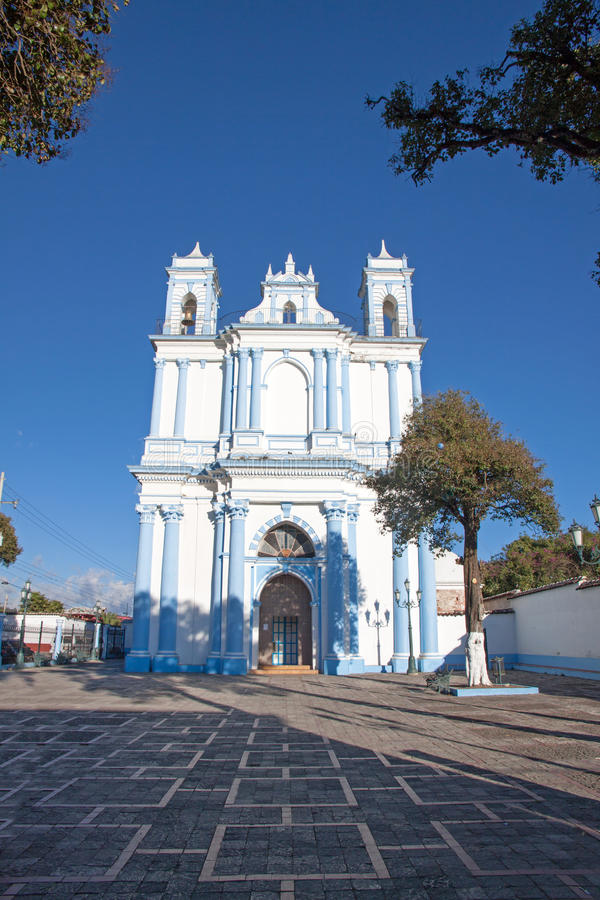Igreja de Santa Lucia em San Cristobal de Las Casas, Chiapas, Mexic imagem de stock
