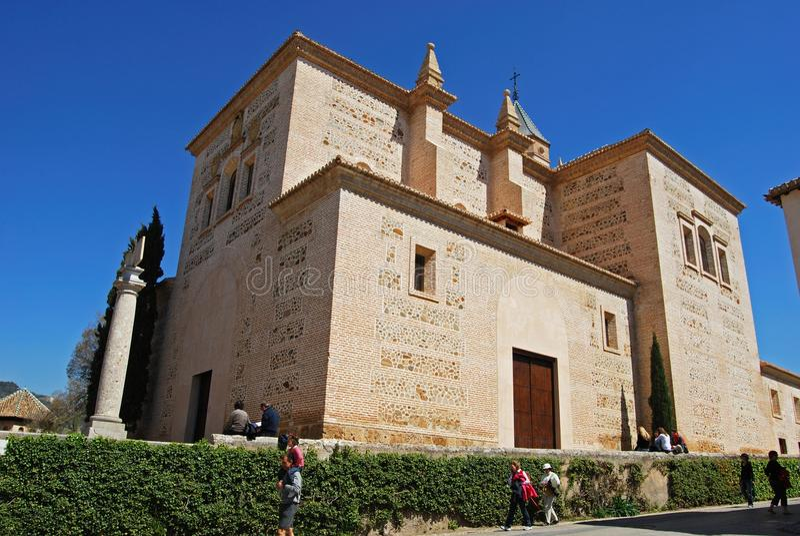 Igreja de Santa Maria, Alhambra Palace imagens de stock
