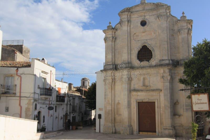 Igreja de Santa Maria del Carmine Monte Sant 'Angelo Foggia Italy fotografia de stock royalty free