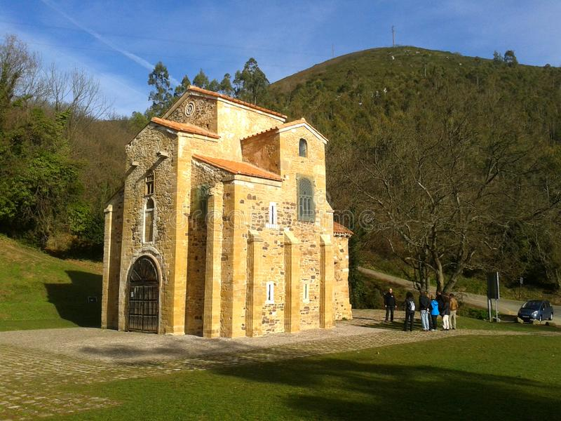 Igreja de Santa Maria del Naranco, Oviedo fotos de stock royalty free