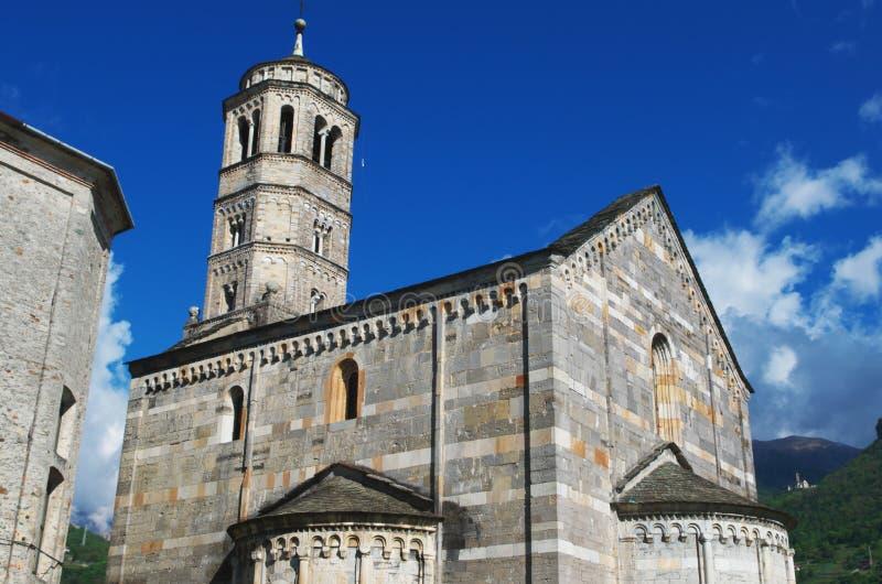 Igreja de Santa Maria del Tiglio, Gravedona, Itália fotografia de stock