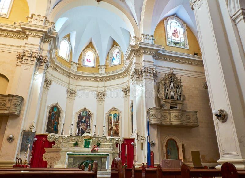 Igreja de Santa Maria Delle Grazie Galatina, Apulia, Itália fotos de stock