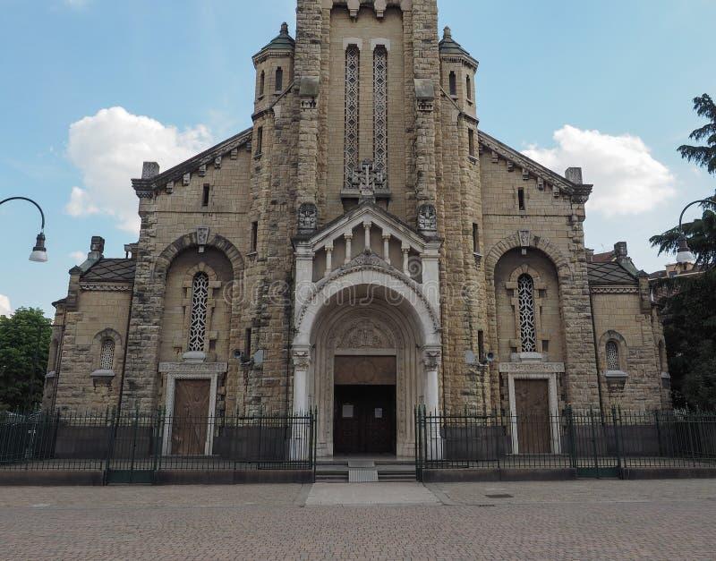 Igreja de Santa Rita da Cascia em Turin fotos de stock
