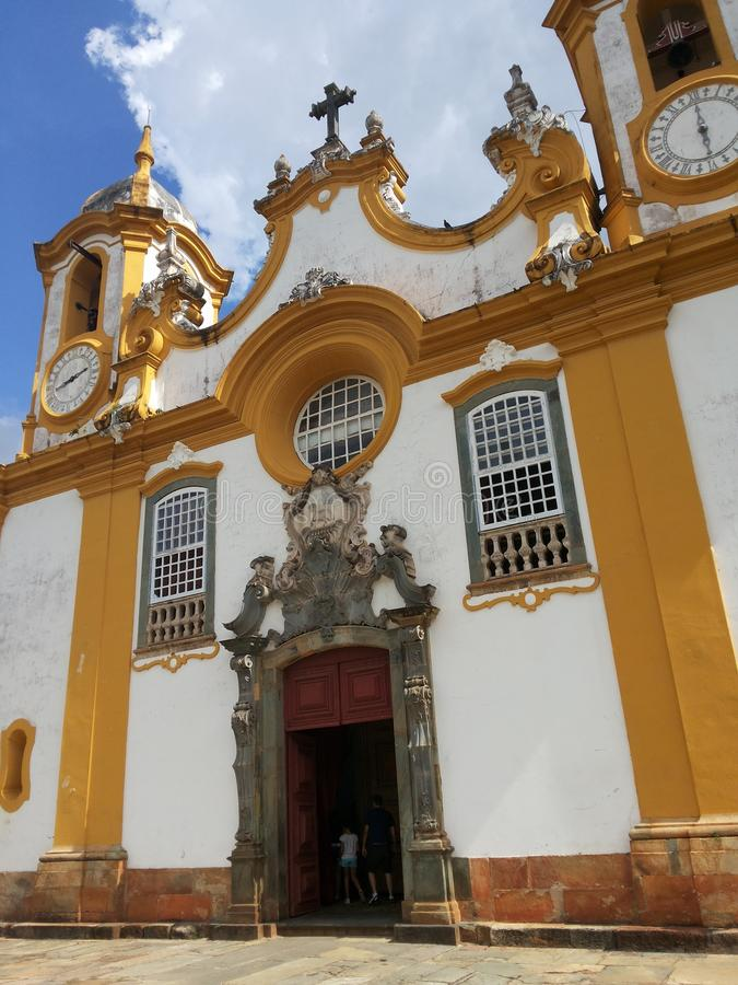 Igreja de Santo AntÃ'nio - Tiradentes стоковое фото