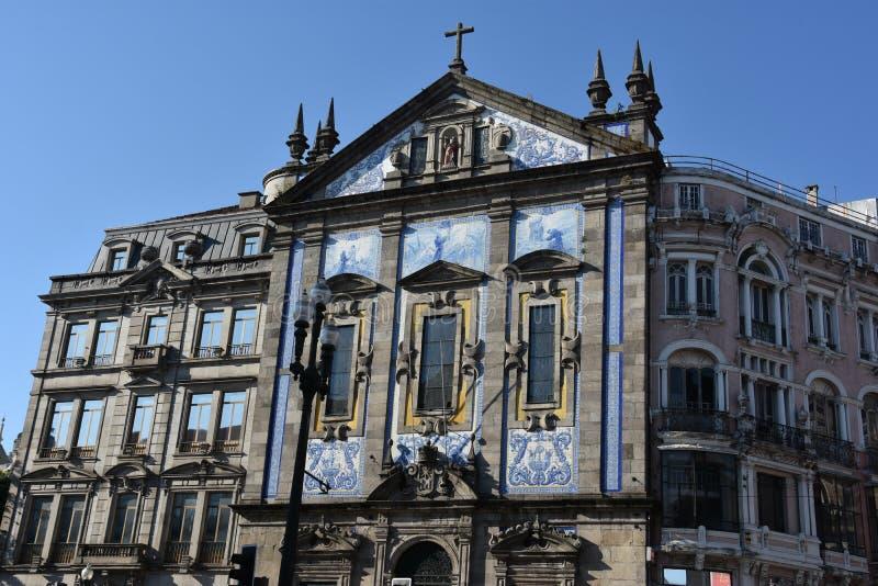 Igreja de Santo Antonio dos Congregados church in Porto, Portugal royalty free stock images