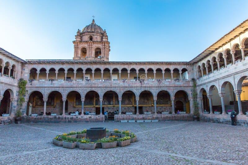 Igreja de Santo Domingo, Coricancha, Cusco, Peru, Ámérica do Sul. Construção em ruínas do templo Incan do Sun. fotos de stock royalty free