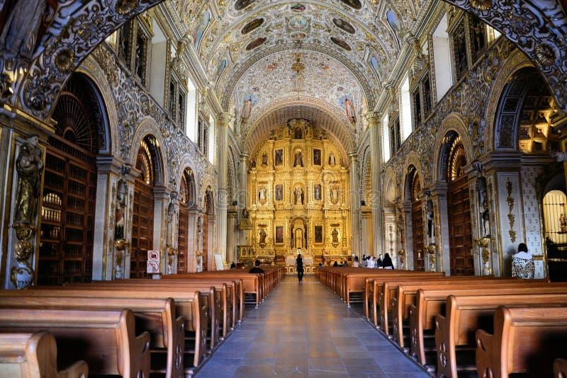 Igreja de Santo Domingo, Oaxaca imagem de stock