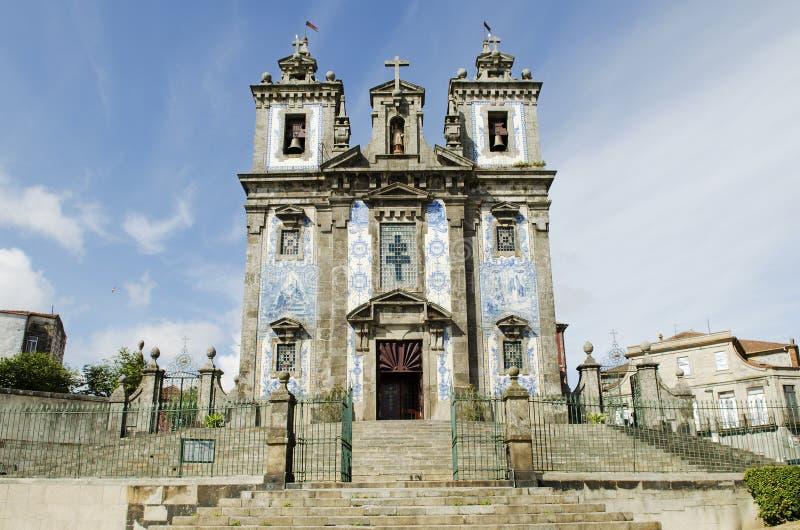 Igreja de Santo Ildefonso em Porto Portugal fotografia de stock royalty free
