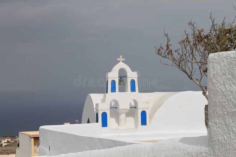 Igreja de Santorini fotos de stock royalty free