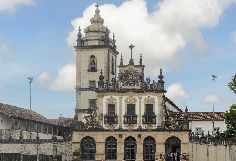 Igreja de Sao Francisco church in Joao Pessoa city. stock images