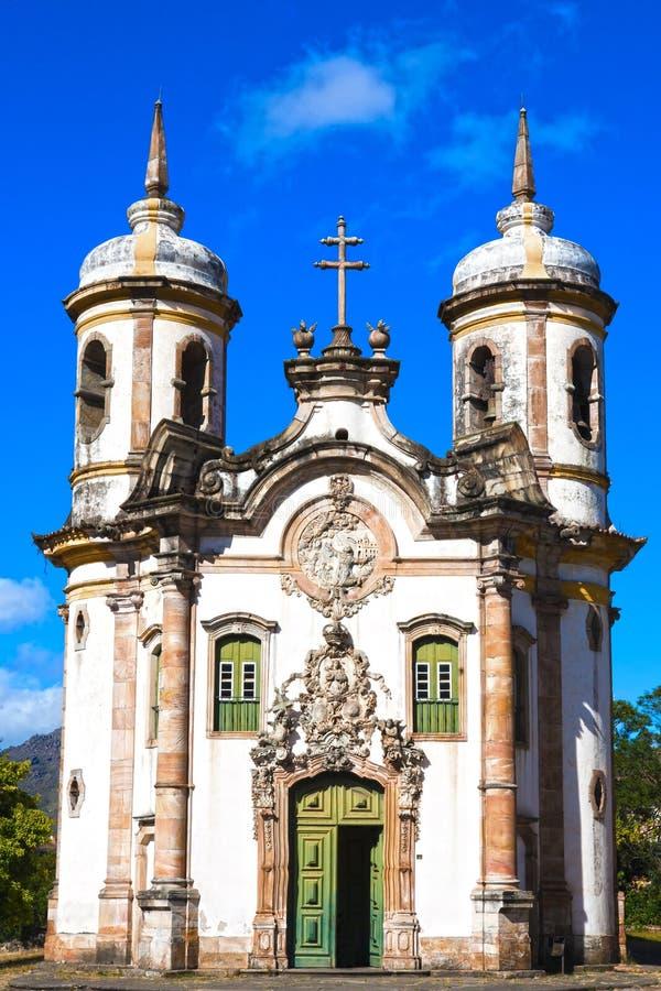 Igreja de Sao Francisco de Assis Ouro Preto fotos de stock