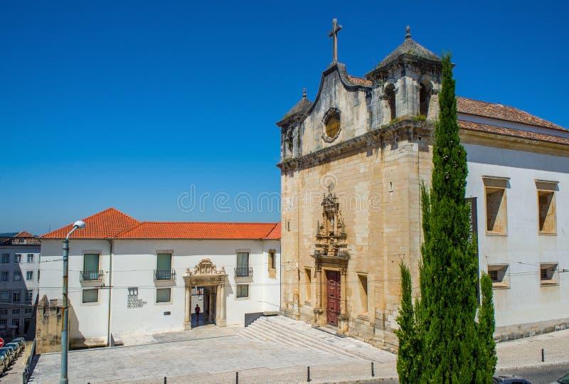 Igreja de Sao Joao de Almedina church in Coimbra. Portugal. stock images