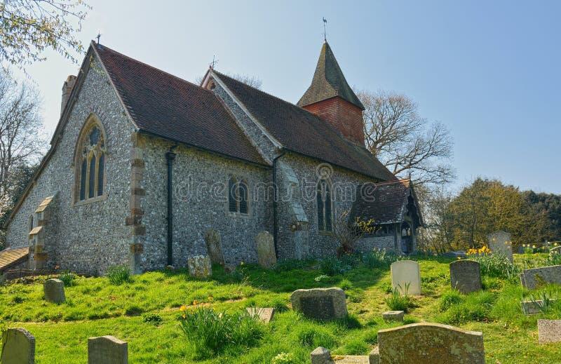 Igreja de Selmeston, Sussex, Reino Unido foto de stock royalty free