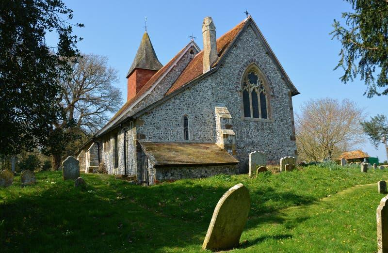 Igreja de Selmeston, Sussex, Reino Unido imagens de stock