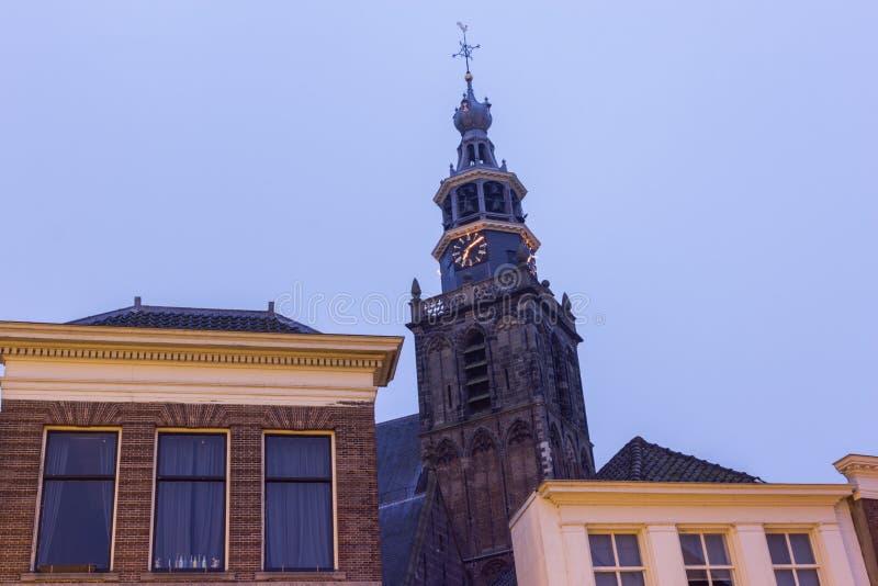 Igreja de Sint Janskerk no Gouda fotografia de stock