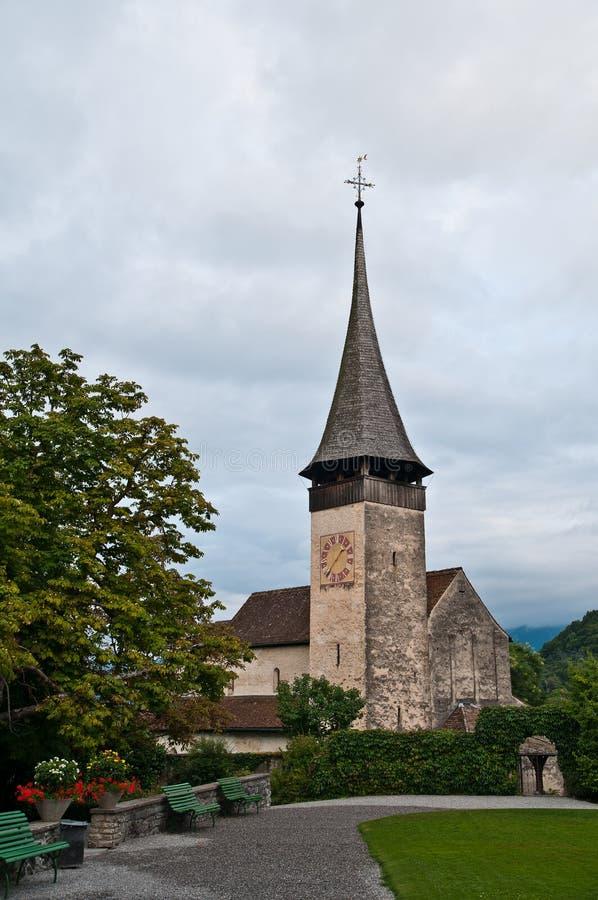 Download Igreja de Spiez imagem de stock. Imagem de switzerland - 26510869