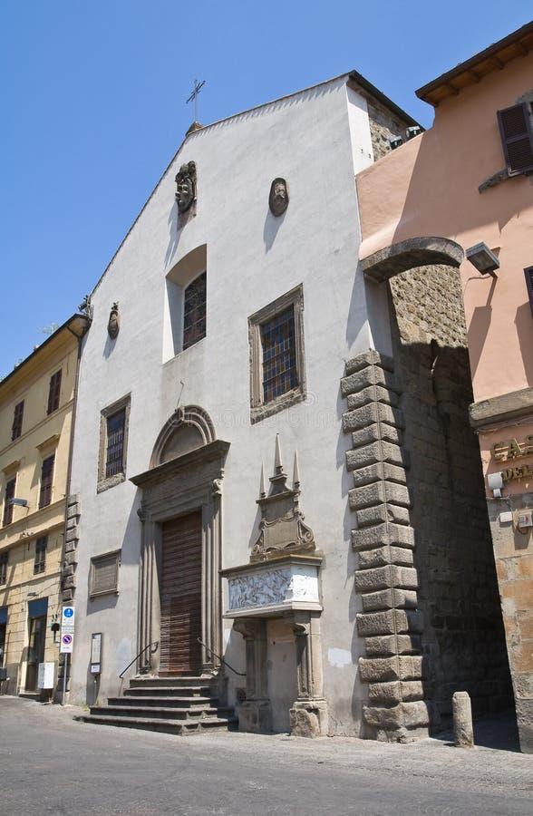 Igreja de St. Angelo em Spatha. Viterbo. Lazio. Ele fotografia de stock