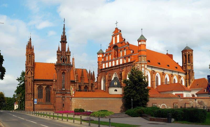 A igreja de St Anna em Vilnius, Lituânia. imagens de stock royalty free