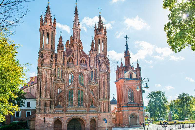 Igreja de St Anne em Vilnius fotografia de stock royalty free
