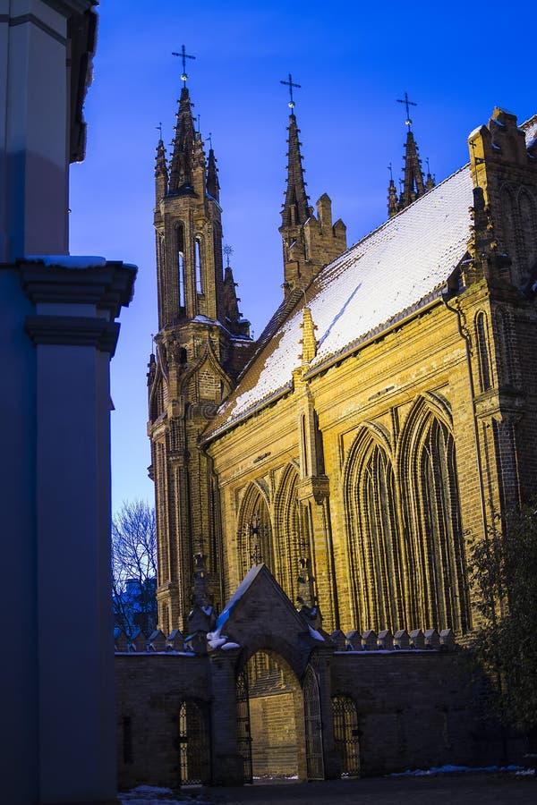 Igreja de St Anne em Vilnius imagens de stock royalty free