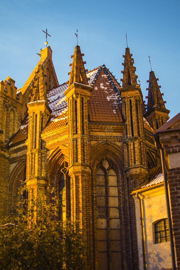 Igreja de St Anne em Vilnius fotos de stock royalty free