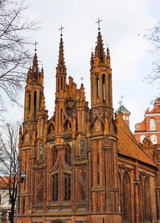 Igreja de St. Anne, Vilnius fotos de stock