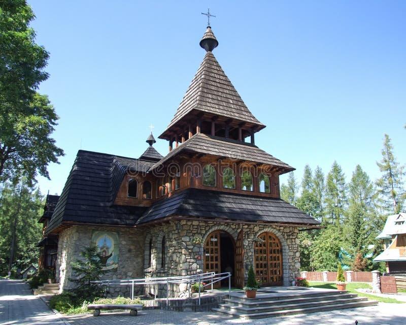 Igreja de St Anthony em Zakopane no Polônia imagem de stock