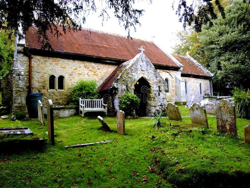 1070 igreja de St Boniface do ANÚNCIO, Bonchurch. fotografia de stock