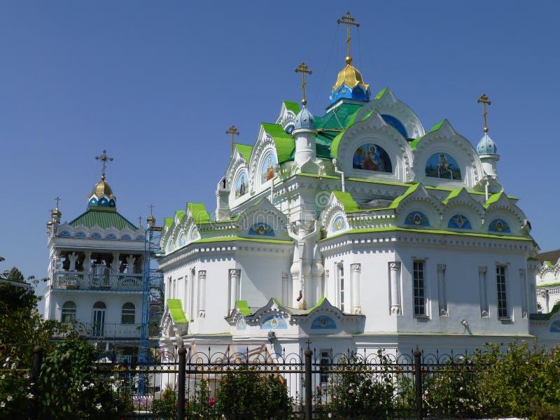 Igreja de St Catherine em Feodosia em Crimeia imagens de stock royalty free