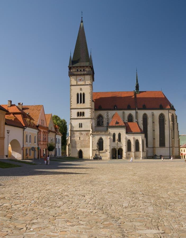 Igreja de St. Egidius no bardejov imagem de stock royalty free